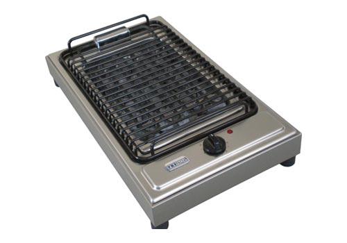 Barbeque a pietra lavica da banco elettrico griglie a pietra lavica semiprofessionali - Cucina con piastra elettrica ...